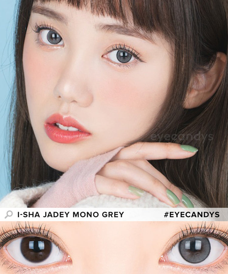 Buy i-Sha Jadey Mono Grey Colored Contacts | EyeCandys