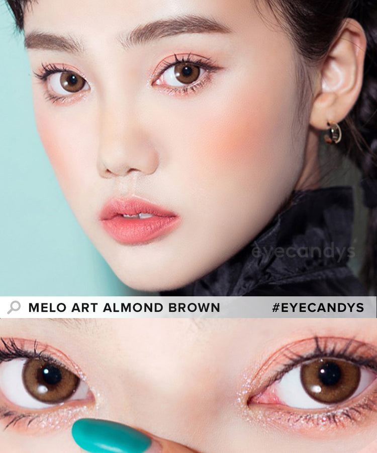Buy i-Sha Melo Art Almond Brown Colored Contacts | EyeCandys