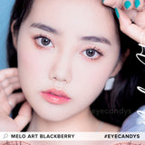 Load image into Gallery viewer, i-Sha Melo Art Blackberry colored contacts circle lenses - EyeCandy's