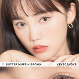 i-Sha Shine Smile Butter Muffin Brown colored contacts circle lenses - EyeCandy's