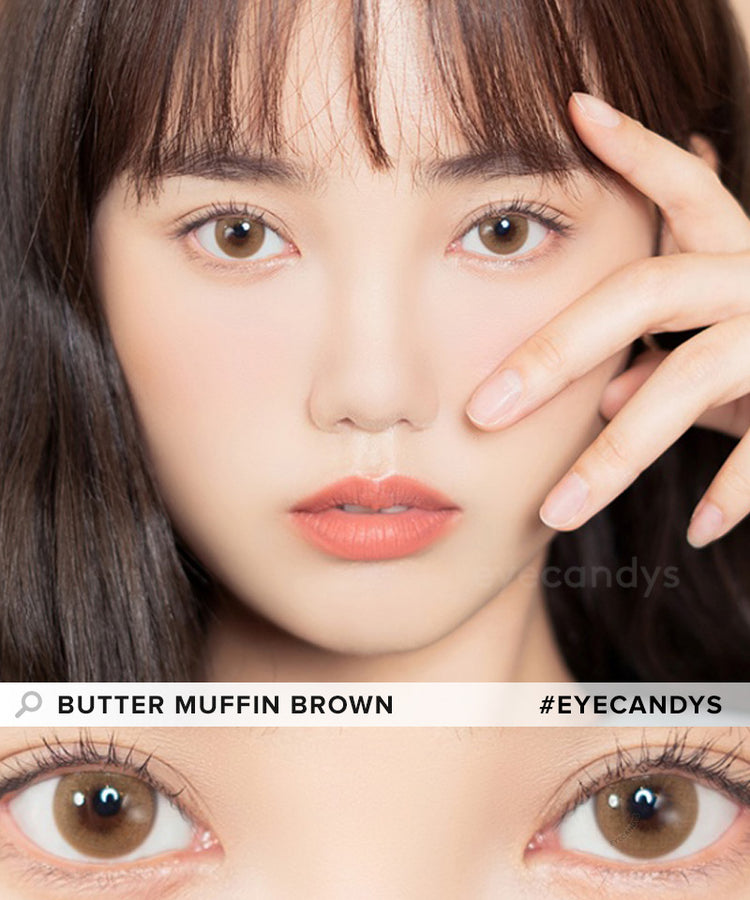 Buy i-Sha Shine Smile Butter Muffin Brown Colored Contacts | EyeCandys