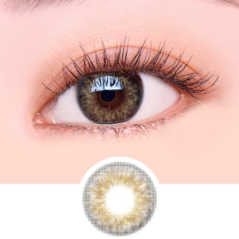 i-Sha Twenty Wish Love Brown colored contacts circle lenses - EyeCandy's