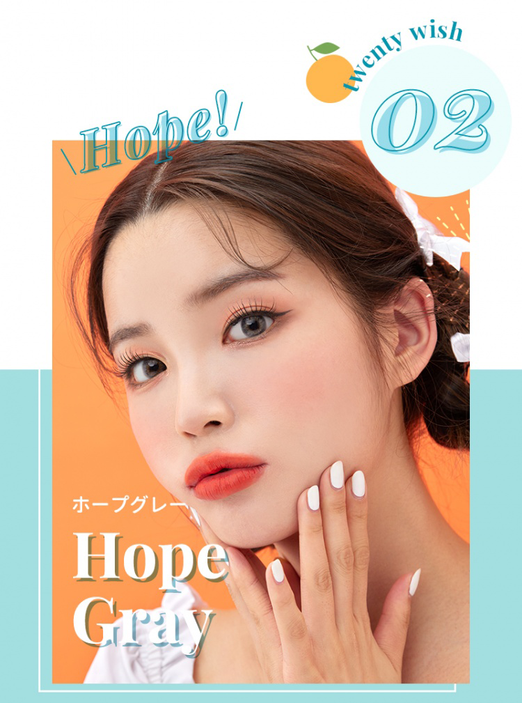 i-Sha Twenty Wish Hope Grey colored contacts circle lenses - EyeCandy's