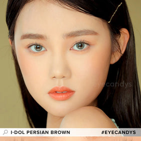 i-DOL Persian Brown colored contacts circle lenses - EyeCandy's