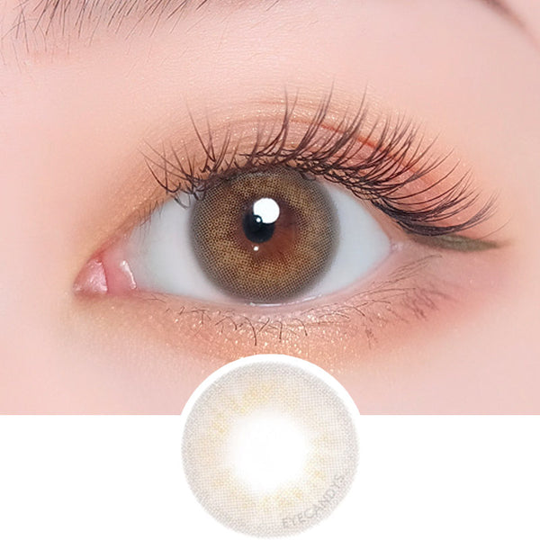 i-DOL Desire Amber Grey colored contacts circle lenses - EyeCandy's