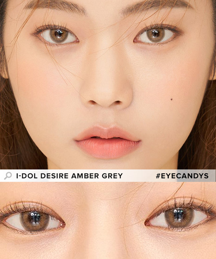Buy i-DOL Desire Amber Gray Color Contacts | EyeCandys