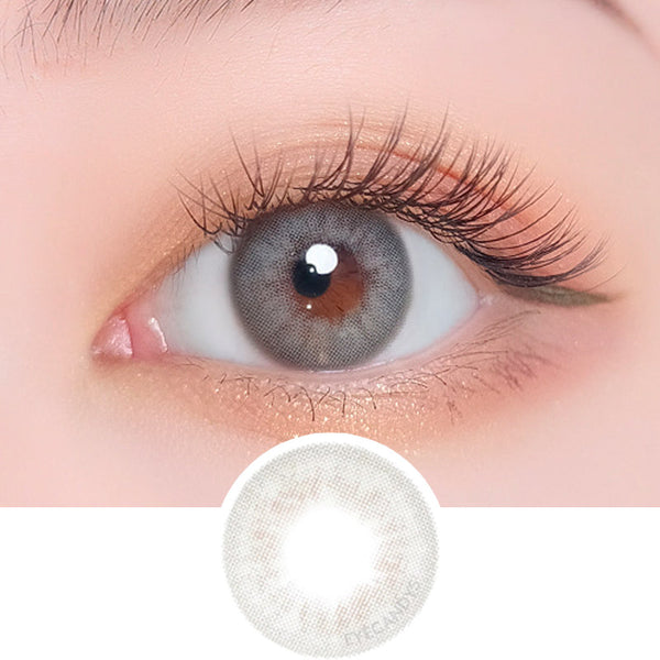 i-DOL Desire Euro Grey colored contacts circle lenses - EyeCandy's