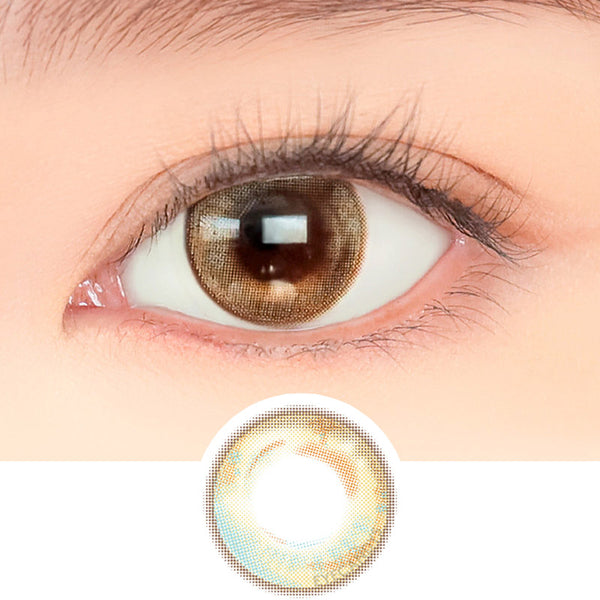i-DOL Ette Bagel Lemon Brown colored contacts circle lenses - EyeCandy's