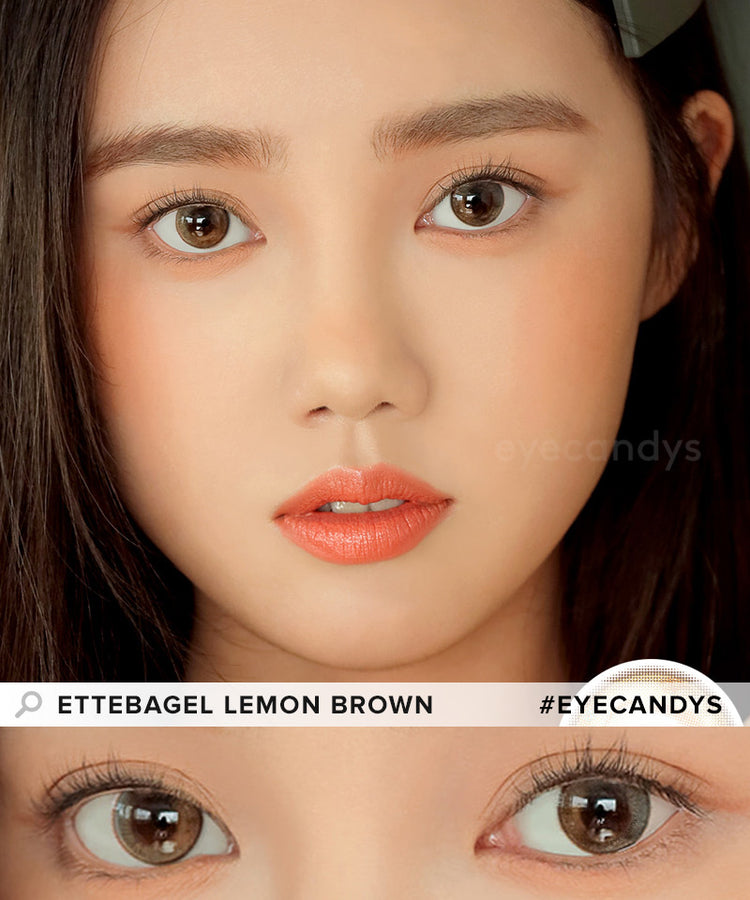 Buy i-DOL Ette Bagel Lemon Brown Color Contacts | EyeCandys
