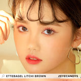 i-DOL Ette Bagel Litchi Brown colored contacts circle lenses - EyeCandy's