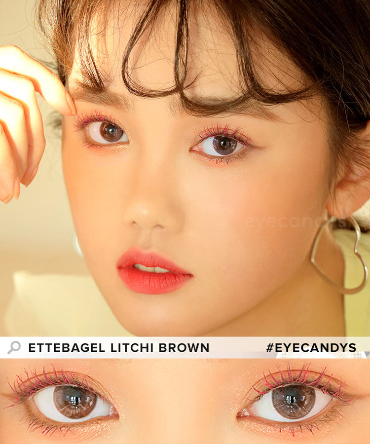 Buy i-DOL Ette Bagel Litchi Brown Color Contacts | EyeCandys