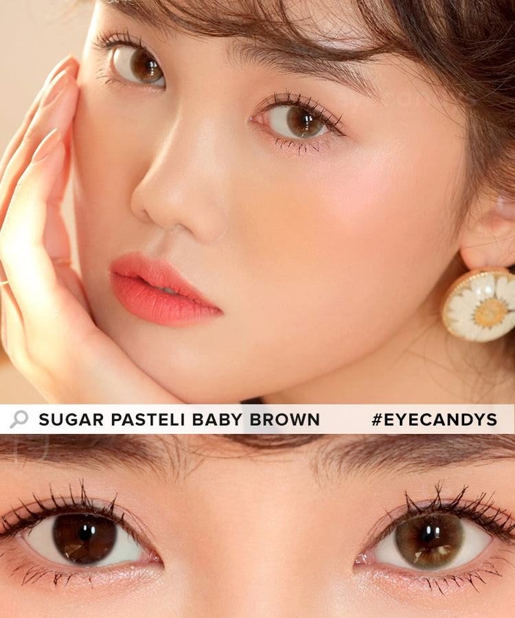 Buy i-DOL Sugar Pasteli Baby Brown Color Contacts | EyeCandys