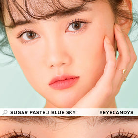 i-DOL Sugar Pasteli Blue Sky colored contacts circle lenses - EyeCandy's