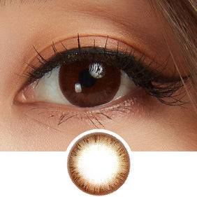 GEOLICA Eyevelyn Brown colored contacts circle lenses - EyeCandy's