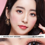 EyeCandys Pink Label Moonlight Brown colored contacts circle lenses - EyeCandy's