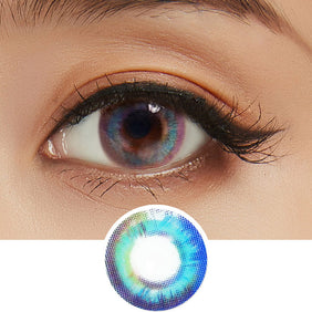Lenstown Luna Prism Blue colored contacts circle lenses - EyeCandy's