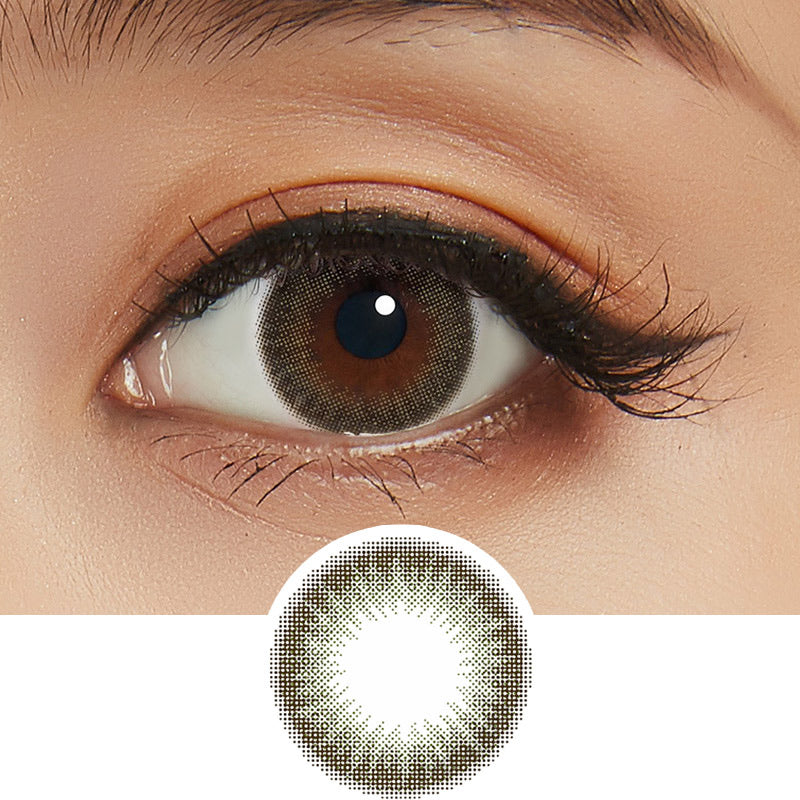 Feliamo 1-Day Olive Brown colored contacts circle lenses - EyeCandy's