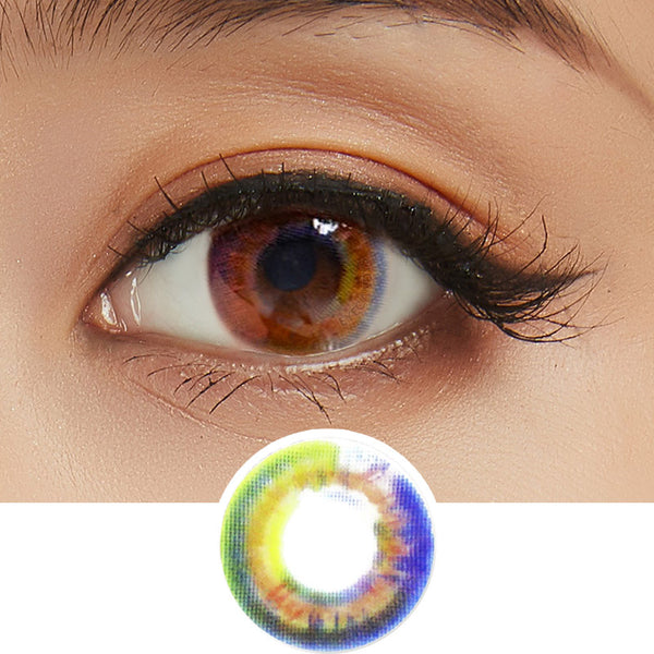Lenstown Luna Prism Brown colored contacts circle lenses - EyeCandy's