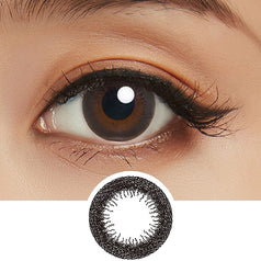 Lucia 1-Day Natural Black colored contacts circle lenses - EyeCandy's