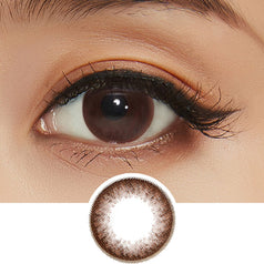 GEOLICA Eyevelyn Choco colored contacts circle lenses - EyeCandy's