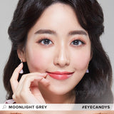 EyeCandys Pink Label Moonlight Grey colored contacts circle lenses - EyeCandy's