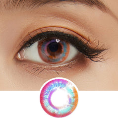 Lenstown Luna Prism Pink colored contacts circle lenses - EyeCandy's