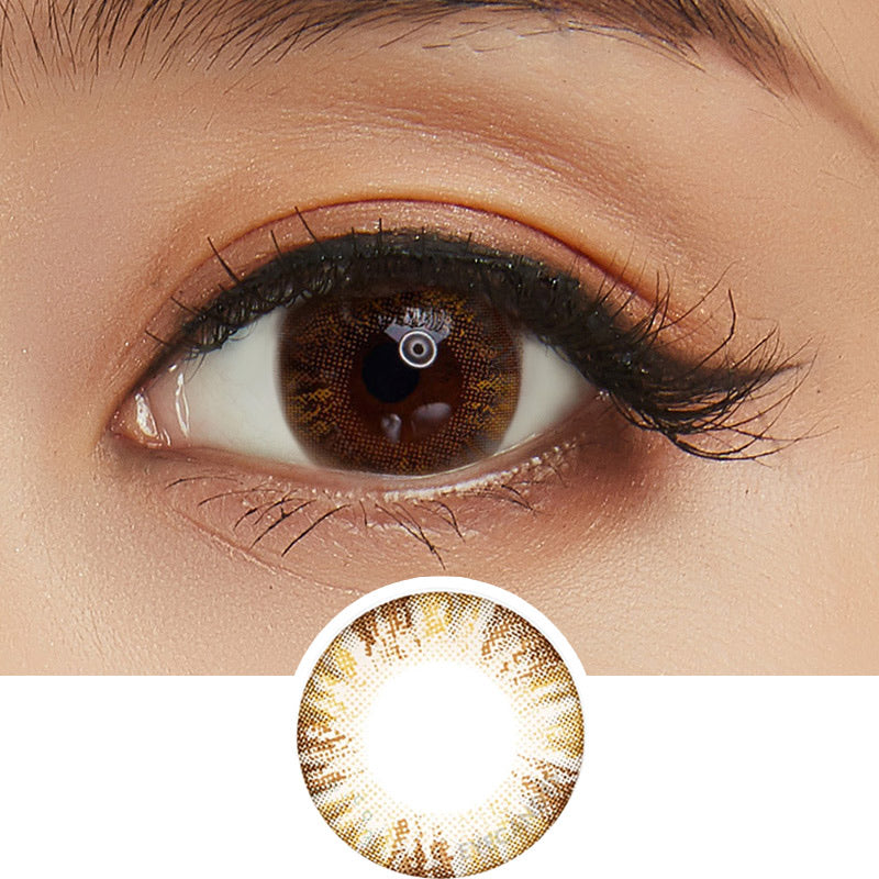 EyeCandys Pink Label Multi-Tone Brown colored contacts circle lenses - EyeCandy's