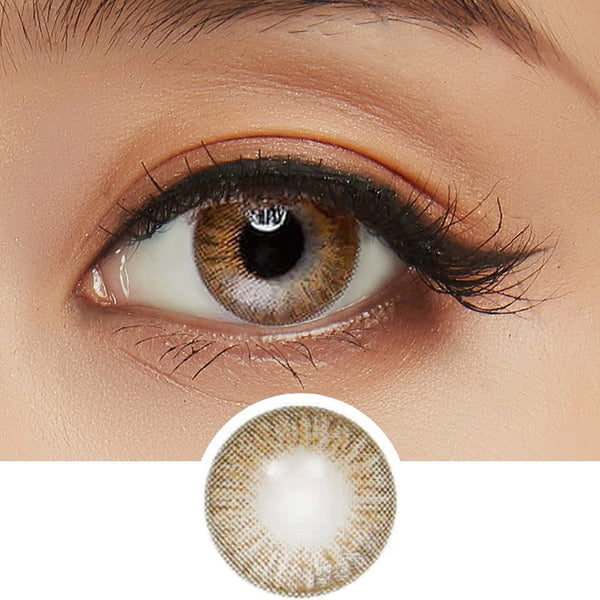 Innovision Elegance Brown colored contacts circle lenses - EyeCandy's
