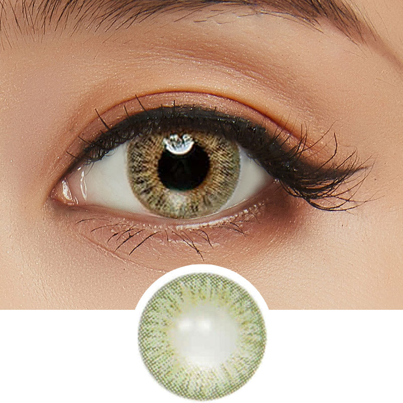 Innovision Elegance Green colored contacts circle lenses - EyeCandy's