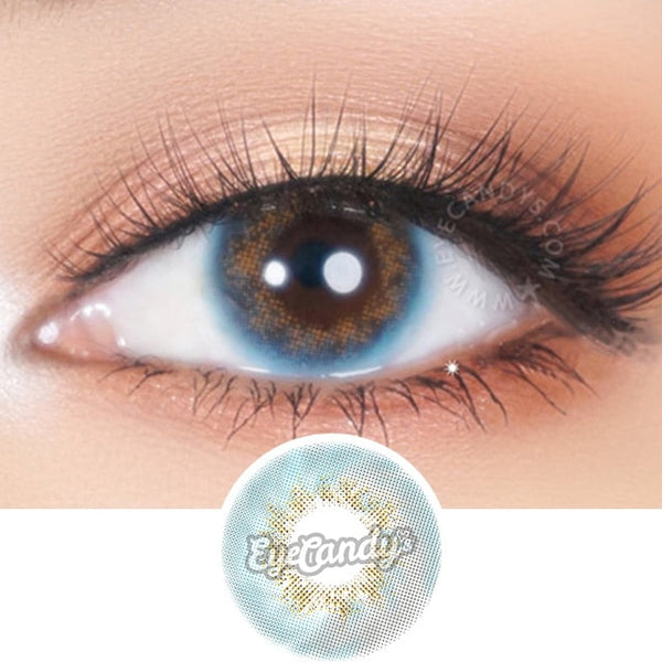 JennyBee Caribbean Blue colored contacts circle lenses - EyeCandy's