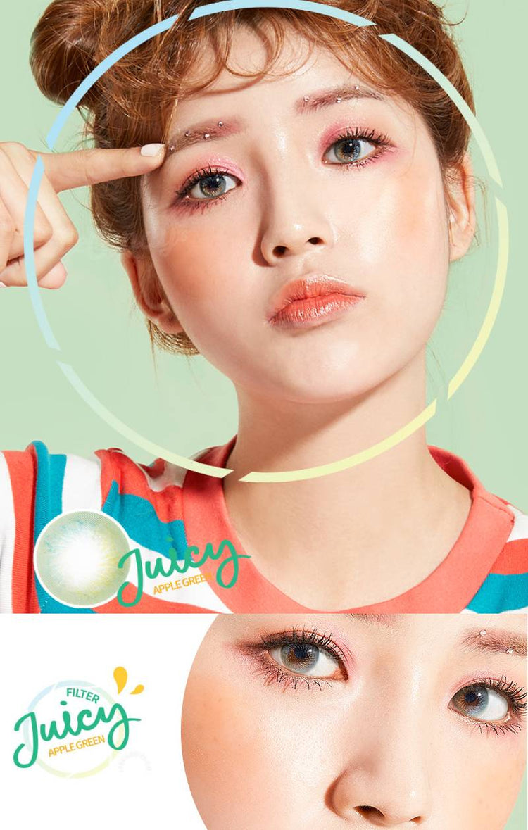 Buy Lenstown Juicy Filter Green Colored Contact Lens | EyeCandys