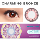 Load image into Gallery viewer, Bausch & Lomb Lacelle Colors Charming Bronze (30 Pcs) colored contact lenses - EyeCandys