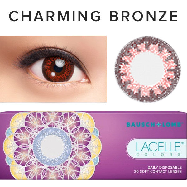 Bausch & Lomb Lacelle Colors Charming Bronze (30 Pcs) 30 lenses/box - EyeCandy's