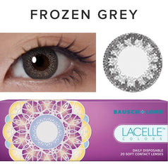 Bausch & Lomb Lacelle Colors Frozen Grey (30 Pcs) 30 lenses/box - EyeCandy's
