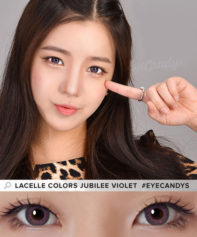 Buy Bausch & Lomb Lacelle Colors Jubilee Violet Circle Lenses | EyeCandys