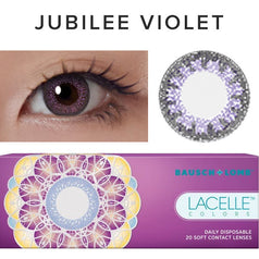 Bausch & Lomb Lacelle Colors Jubilee Violet (30 Pcs) 30 lenses/box - EyeCandy's