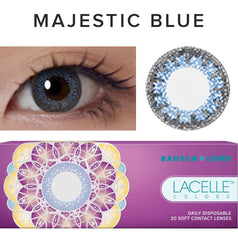 Bausch & Lomb Lacelle Colors Majestic Blue (30 Pcs) 30 lenses/box - EyeCandy's