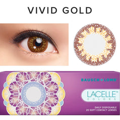 Bausch & Lomb Lacelle Colors Vivid Gold (30 Pcs) 30 lenses/box - EyeCandy's