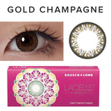Bausch & Lomb Lacelle Diamond Gold Champagne (30 Pcs) colored contacts circle lenses - EyeCandy's