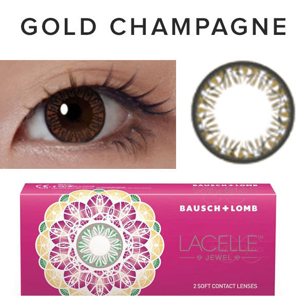 Bausch & Lomb Lacelle Diamond Gold Champagne (30 Pcs) 30 lenses/box - EyeCandy's
