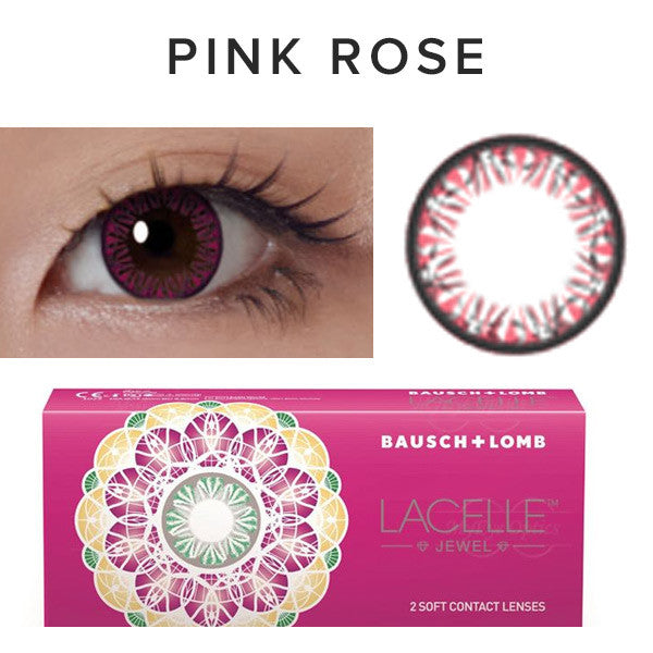 Bausch & Lomb Lacelle Diamond Pink Rose (30 Pcs) 30 lenses/box - EyeCandy's