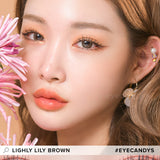 Lenstown Lighly Lily Brown colored contacts circle lenses - EyeCandy's