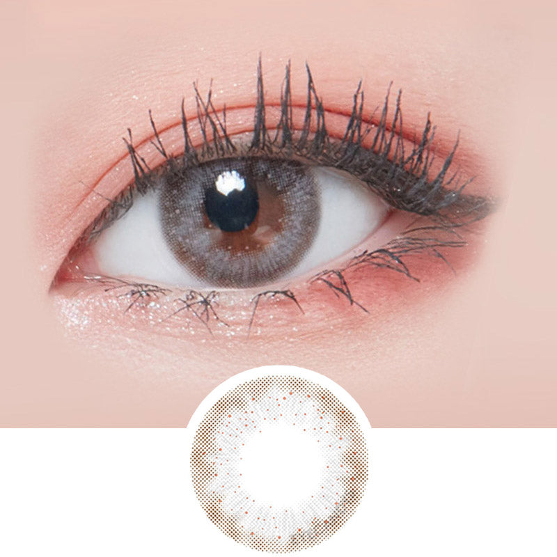 Lenstown Lighly Lily Grey colored contacts circle lenses - EyeCandy's