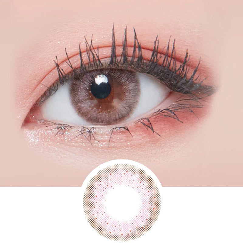 Lenstown Lighly Lily Pink colored contacts circle lenses - EyeCandy's
