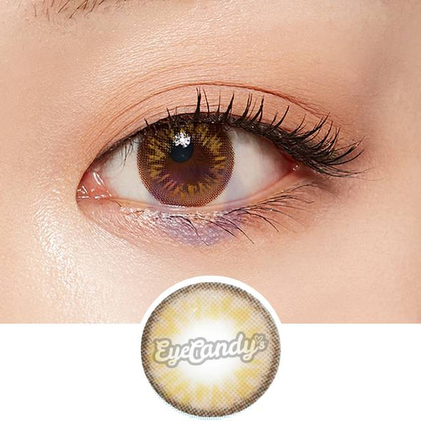 Lenstown Personal Warm Brown colored contacts circle lenses - EyeCandy's