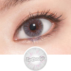 Lenstown Steallight Grey colored contacts circle lenses - EyeCandy's