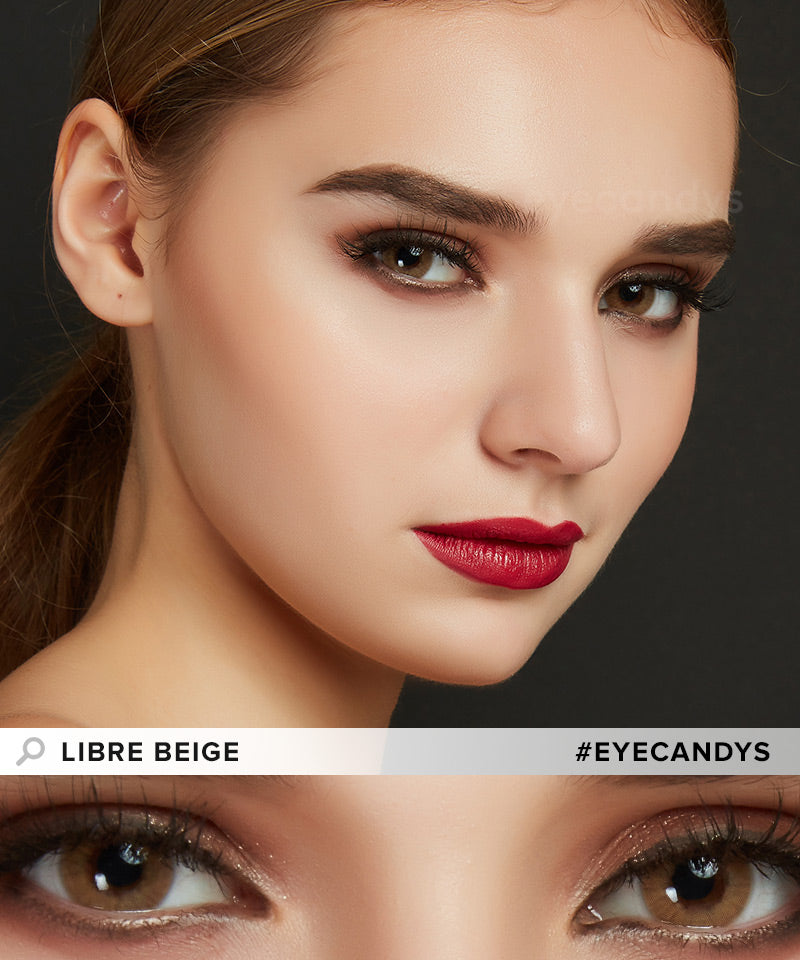 EyeCandys Libre Beige colored contacts circle lenses - EyeCandy's