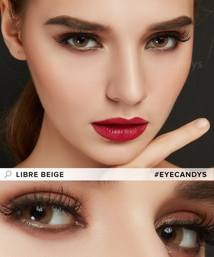 Buy EyeCandy's Libre Beige Colored Contacts Best | EyeCandys