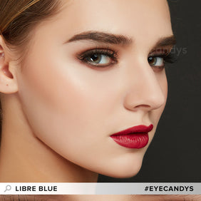 EyeCandys Libre Blue colored contacts circle lenses - EyeCandy's