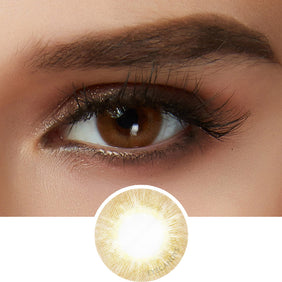 EyeCandys Libre Brown colored contacts circle lenses - EyeCandy's